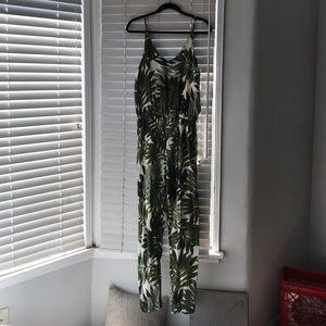 top shop tropical print jumpsuit
